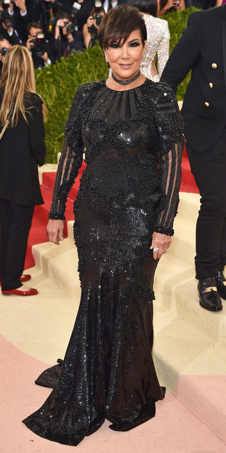 See All the Best Looks from the 2016 Met Gala Red Carpet - Kris Jenner  - from InStyle.com