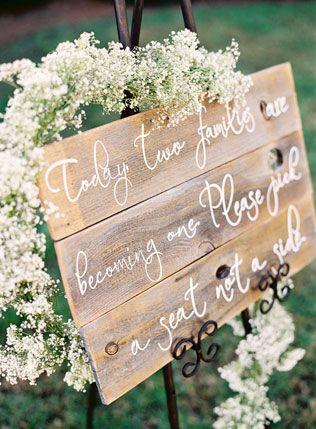 Каллиграфия на свадьбе, свадебные таблички