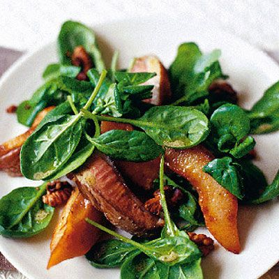 Warm Duck, Quince And Walnut Salad