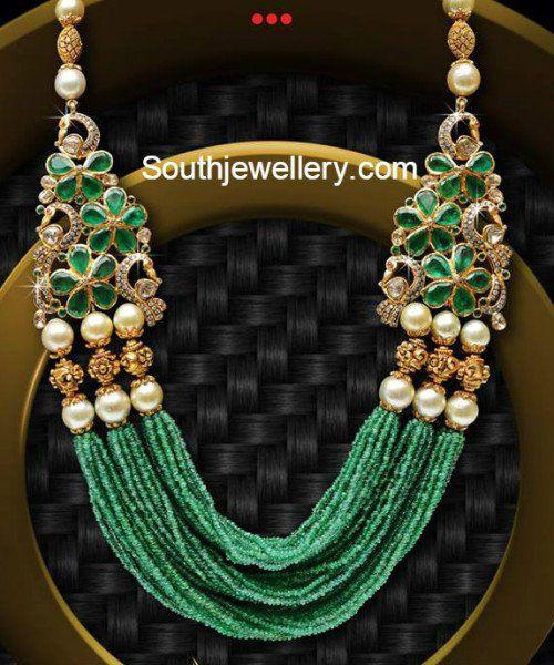 Multistring Emerald Beads Mala