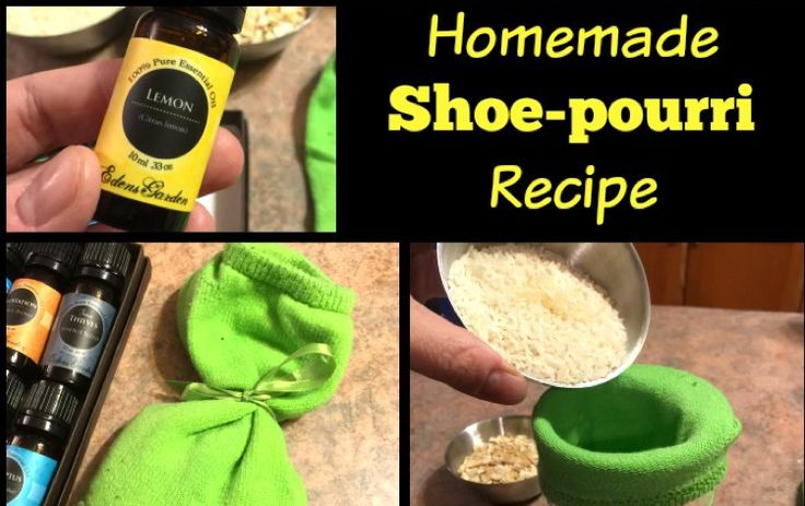 You have got to try this awesome Homemade Shoe-pourri Recipe! It works wonders on those stinky shoes laying in the house and it's made with essential oils!