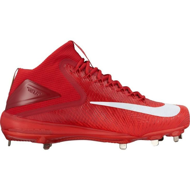 Nike Men\u0027s Force Zoom Trout 3 Mid Metal Baseball Cleats, Size: 8.0, Black
