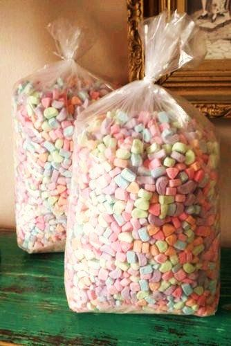 Large Bag of  Only Lucky Charms Dehydrated Marshmallows w/out The Cereal Bag 1 Pound Bag of Bulk Candy