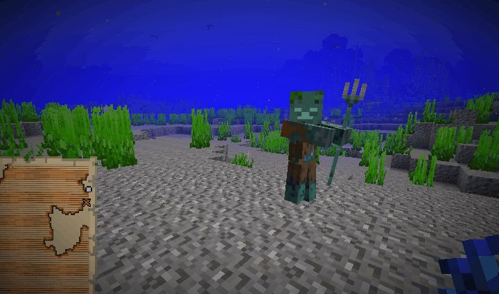 topielec drowned minecraft 1.13
