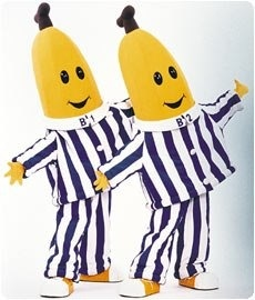 Bananas in pajamas! So want to be them for Halloween!