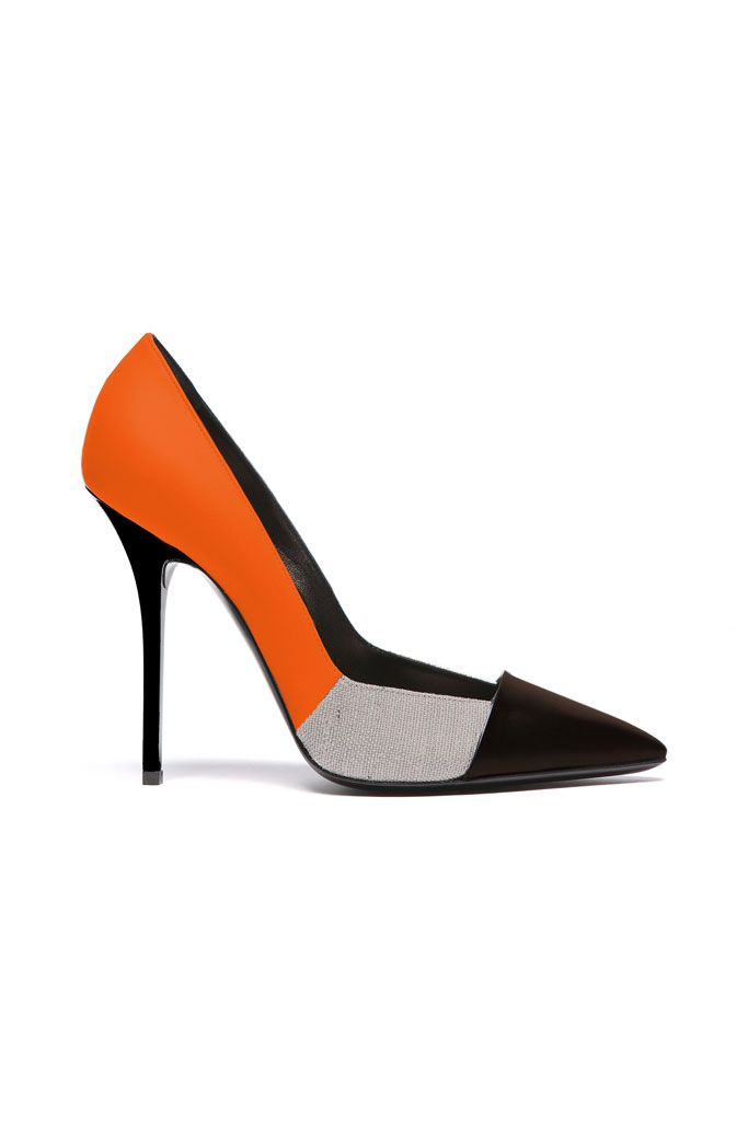 Diego Dolcini Colorblock Pumps with Prange, Grey & Black Spring 2014 #Shoes #Heels
