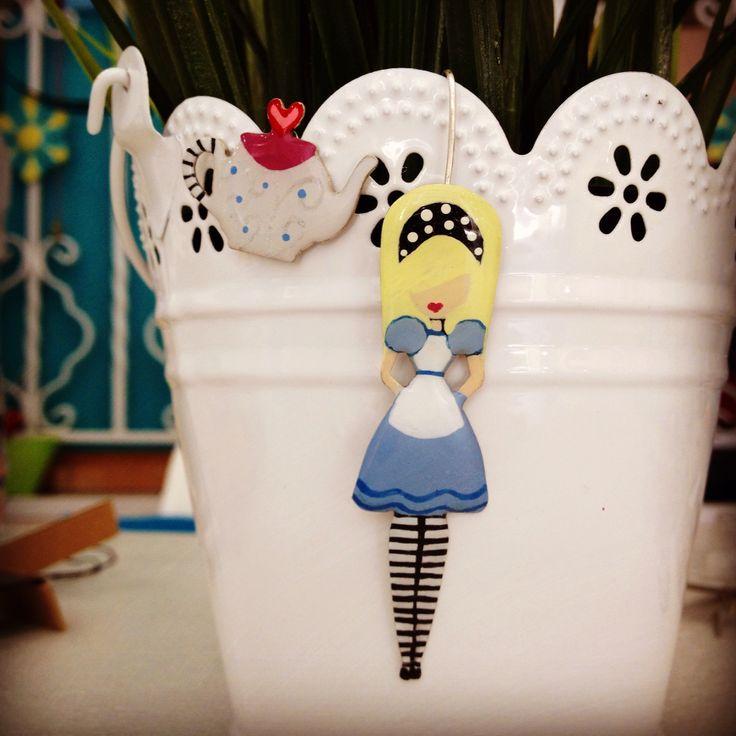 Alice Hand painted earrings
