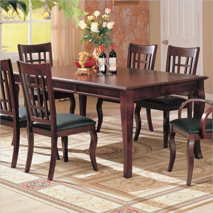 Coaster Furniture - Newhouse Rectangular Dining Table in Cherry Finish - 100500