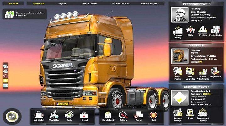 Euro Truck Simulator 2 Full Version  Euro Truck Simulator 2 merupakan sebuah PC game simulasi mengendarai mobil truk besar yang bisa anda mainkan dirumah, didalam game ini anda bisa mengendarai mobil truk dari berbagai jenis yang bisa anda pilih sendiri, dari mulai truk kontainer, truk tanki bahan bakar dan berbagai truk lainnya yang bisa anda coba sendiri untuk mengemudikannya dengan benar.