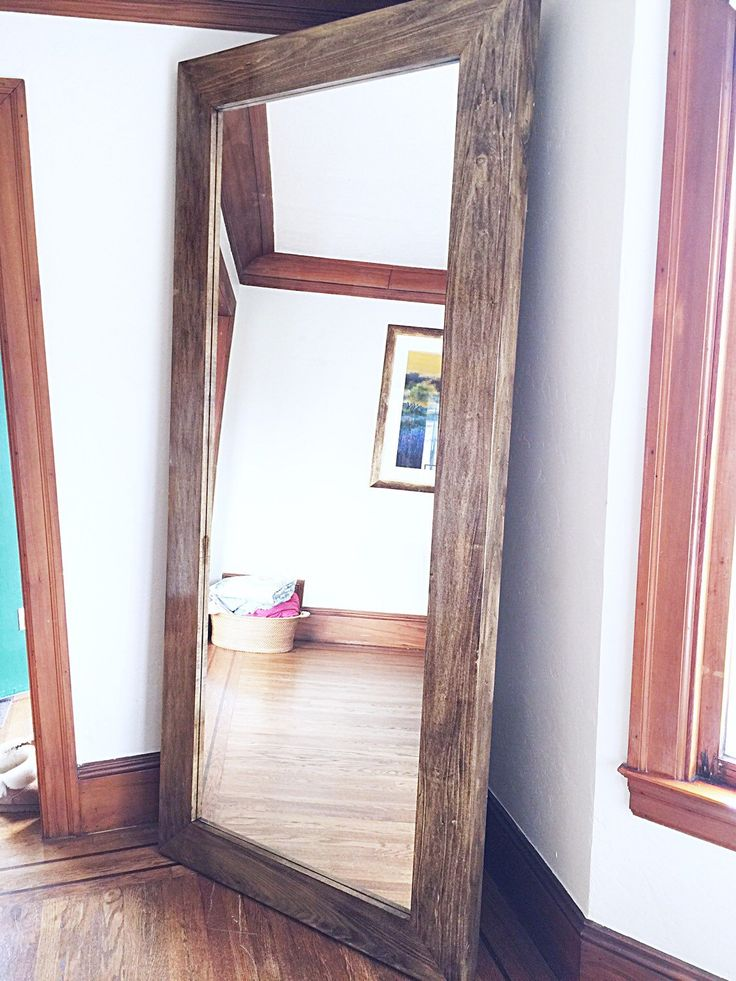 X-Large Wooden Frame Floor Mirror by SilverStems on Etsy https://www.etsy.com/listing/269180940/x-large-wooden-frame-floor-mirror