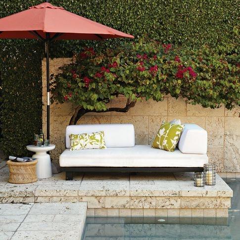 Tillary Outdoor Sofa | west elm: Westelm, Outdoor Seats, Tillari Outdoor, Outdoor Sofas, Outdoor Furniture, Outdoor Patio, Pools, West Elm, Outdoor Lounge