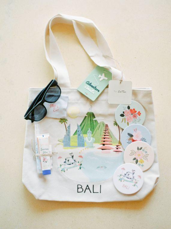 Jamaica Destination Wedding Gift Bag Ideas : Destination Bali favor bag Photo by Caught the light Read more ...