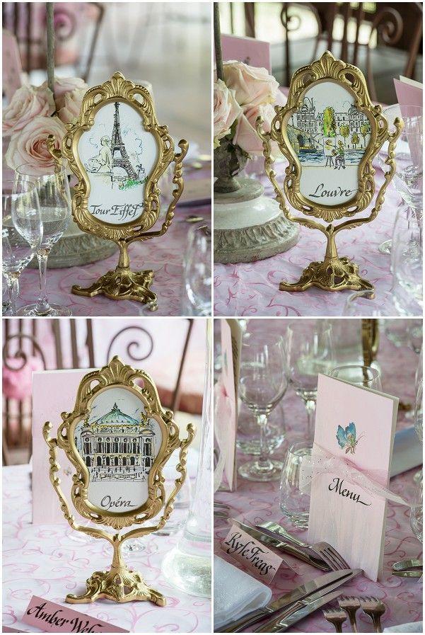 Les 32 meilleures images du tableau mariage parisien sur pinterest mariage parisien mariages - Nom de table pour mariage sans theme ...