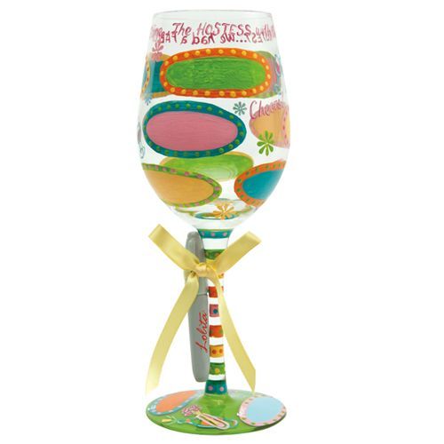 """""""Hostess With The Mostest""""    Now you can give the most popular wine glass line for a gift and add that special personalized touch with Lolita Personalize It Wine Glasses.    Each Lolita """"Personalize It!"""" Wine Glass includes a Sharpie Permanent Black Marker and Instructions on How to Personalize It! Each Glass comes distinctively packaged in its own coordinating box!"""