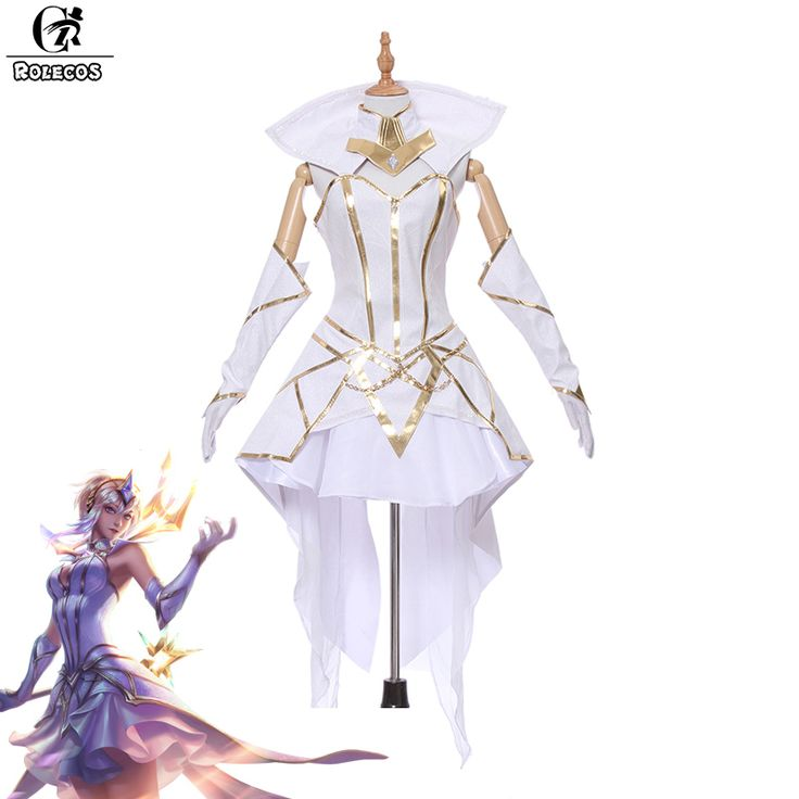 ROLECOS Brand New Game LOL LUX Cospaly Costumes Luxanna Crownguard the Lady of Luminosity Cosplay Costumes Light Elementalist  #Affiliate
