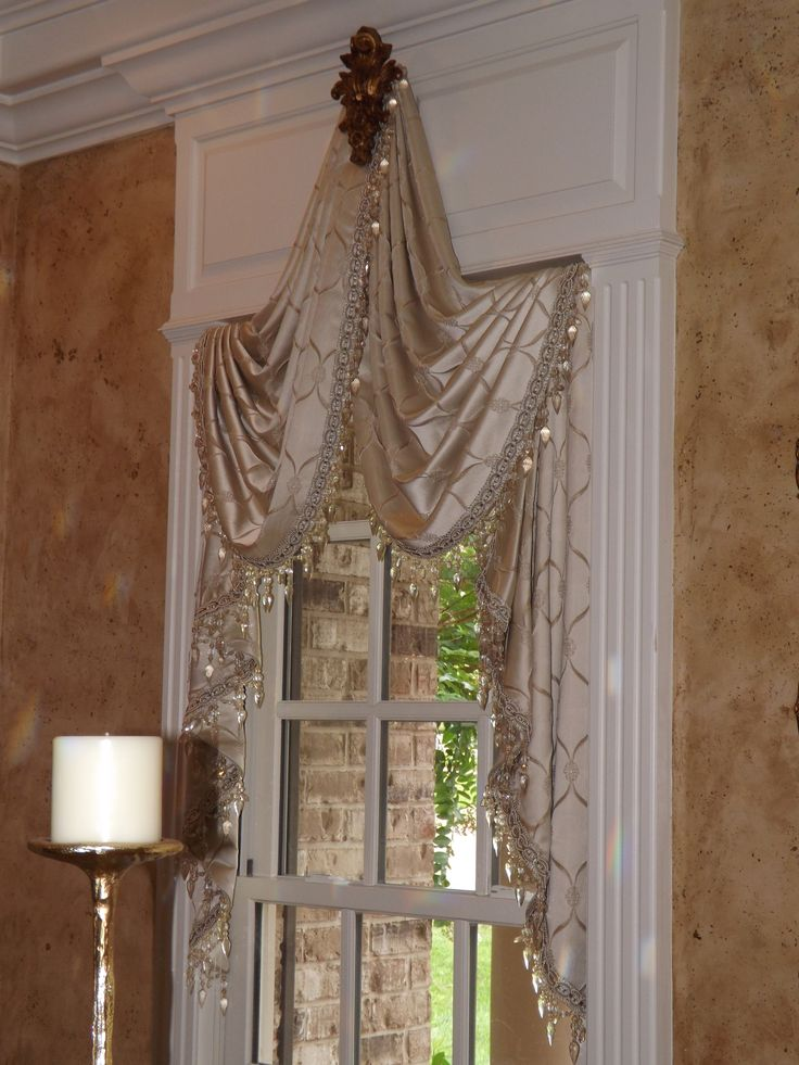 80 best images about swags and tails on pinterest window - Swag valances for bathroom windows ...