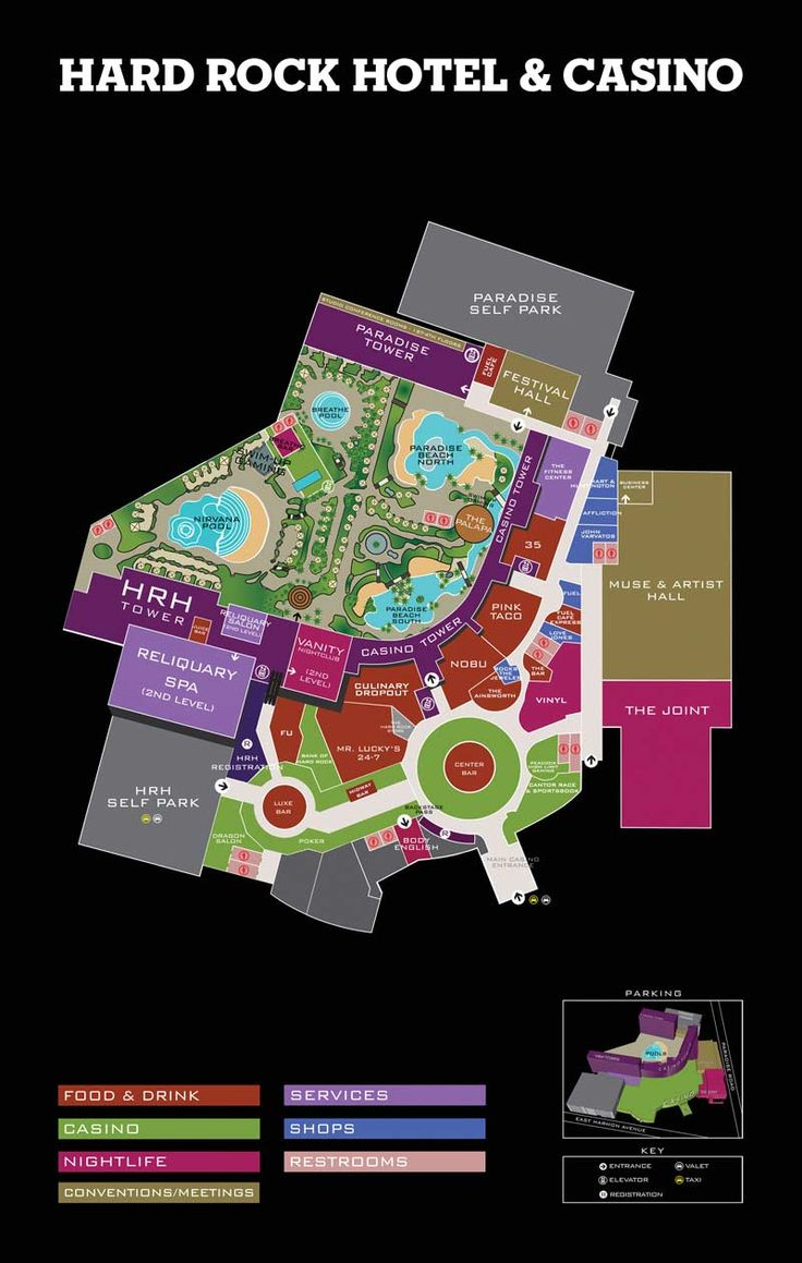 Property Map | Hard Rock Hotel and Casino Las Vegas