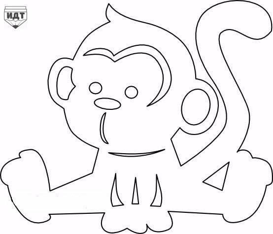 sedící opička