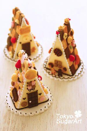 cookies. お菓子の家生徒さんの作品の画像:東京シュガーアート 頑張ってシュガーアートを広めてマス!