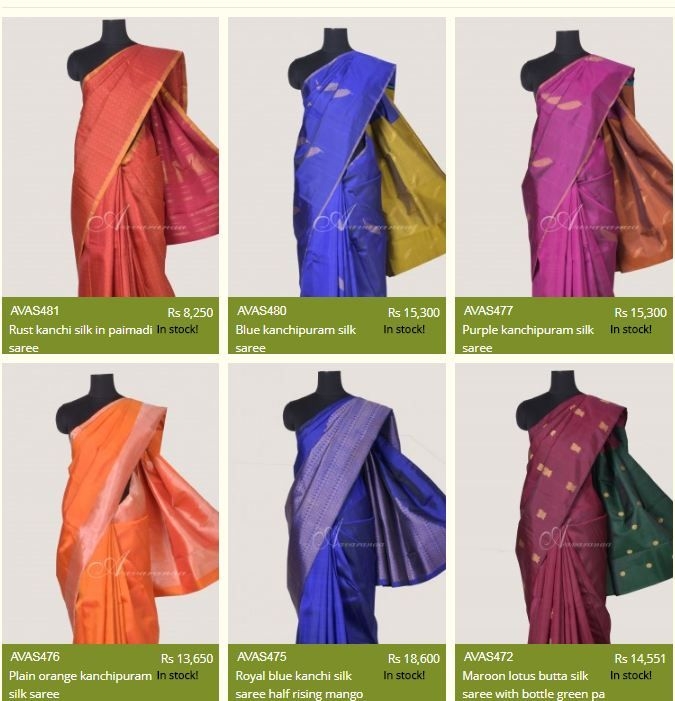 Looking from classy kanjeevaram silk sarees online? Your search ends here as Aavaranaa brings you an elegant collection of kanjeevaram silk sarees and much more. You will find them in breathtaking designs of brocade, paithani, and half-kanchi among others. These designer sarees are a complete blend of ethnicity and fine finish. So, buy online kanjeevaram silk sarees from Aavaranaa  and give a boost to your classic appearances.