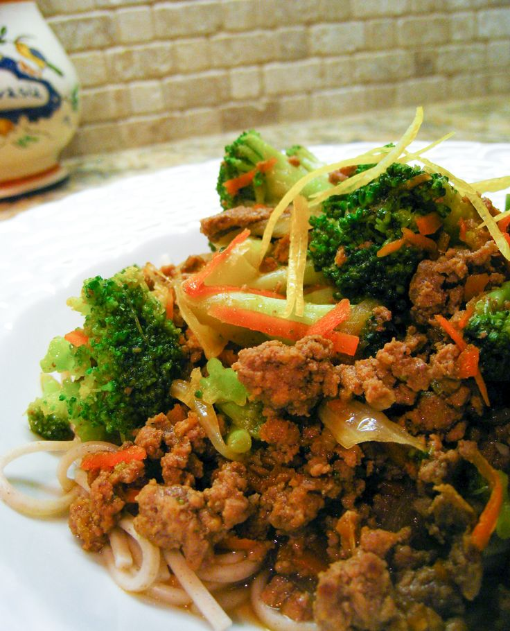 Beef and Broccoli with Soba Noodles - Japanese buckwheat ...