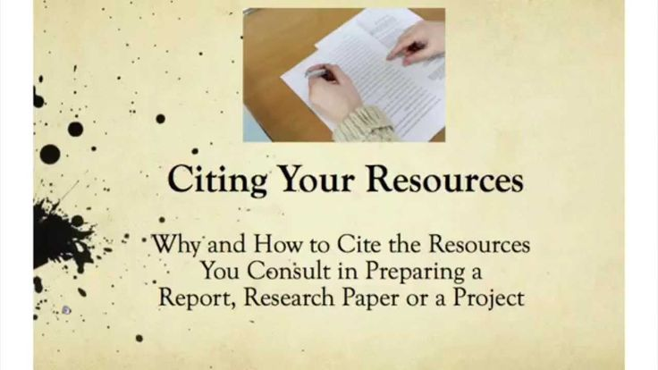 Citation Presentation for Students now on You Tube.  How and Why to Cite Your Resources