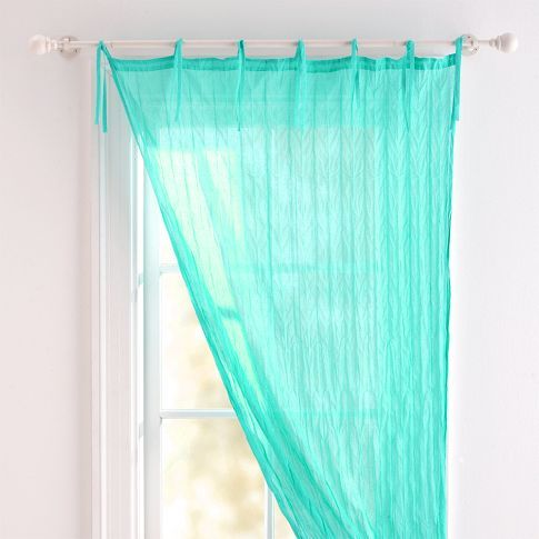 Twisted Sheer | PBteen Pool or lavender...hang up in between blackout curtains and sheer sparkle curtains for more color?