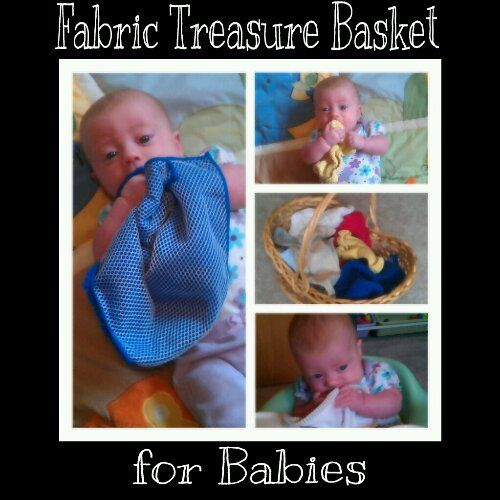 Fabric Treasure Basket for Babies