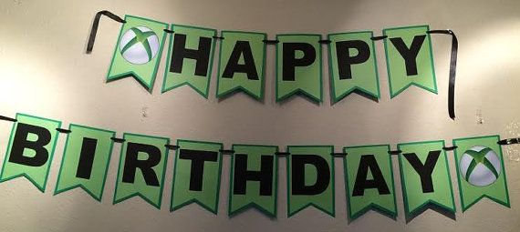 Xbox Happy Birthday Banner by IdeasForYourParty on Etsy
