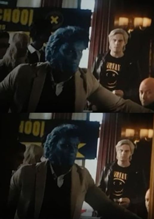 cameo of quicksilver the rest of the x men in deadpool 2