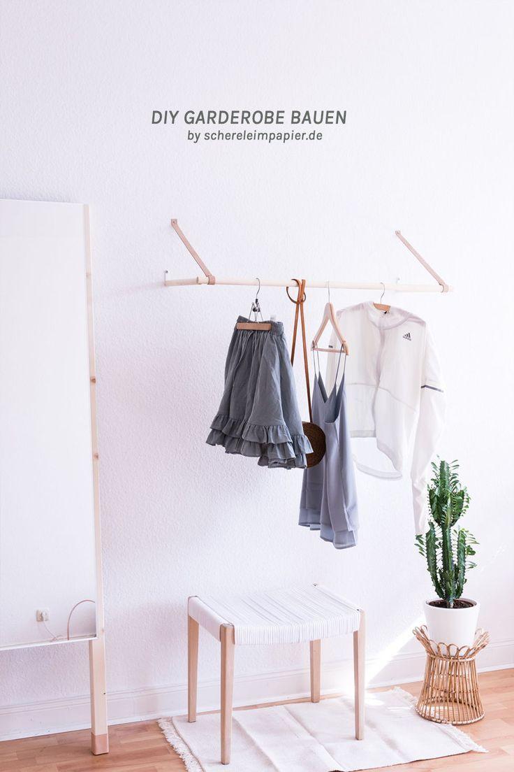 Garderobe selber bauen – die filigrane Lösung für die Wand