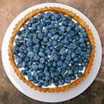Crostata di mirtilli con crema di formaggio dolce  Oggi sul blog (link nel bio)  Blueberry tart with cream cheese filling and walnut crust  On the blog today (link in bio)
