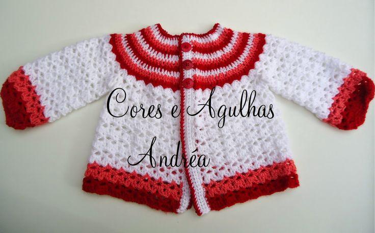 Olá!   Hoje vim trazer a vocês minhas últimas artes... fiz vários casaquinhos de bebe em crochê para doação, todos do mesmo modelinho mude...