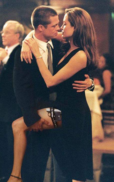 Angelina Jolie and Brad Pitt in a ballroom dancing scene from the 2005 movie 'Mr. and Mrs. Smith'. (Photo courtesy of Twentieth Century-Fox Film Corporation)