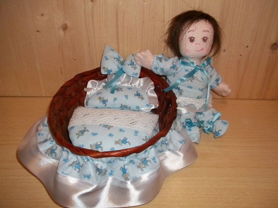 Four ideas for sewing Cloth Baby Doll.  PDF Instruction & Pattern: The Twins.  Different faces and expressions.