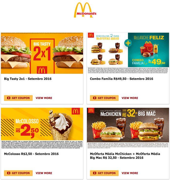 [PalhaçoMob] Cupons McDonald's Setembro/16