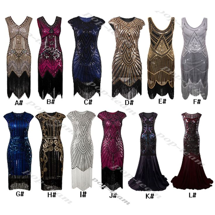 1920s Flapper Costume Charleston Gatsby Party Formal Evening Prom Club Dress