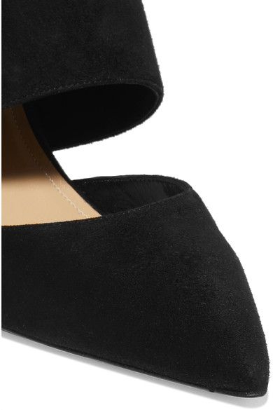 Paul Andrew - Durini Cutout Suede Pumps - Black