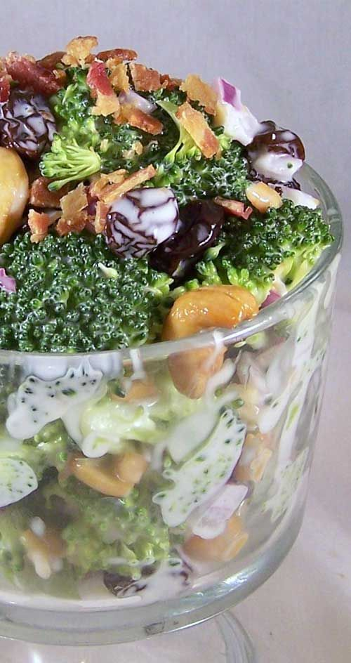 Recipe for Best Broccoli Salad EVER - I do not usually enjoy raw broccoli, but I can eat this salad by the bowl full! Even the kids love it!