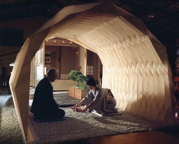 "Japanese tea room made by origami ""kami-an"", works by Yuko Nishimura, Japan"