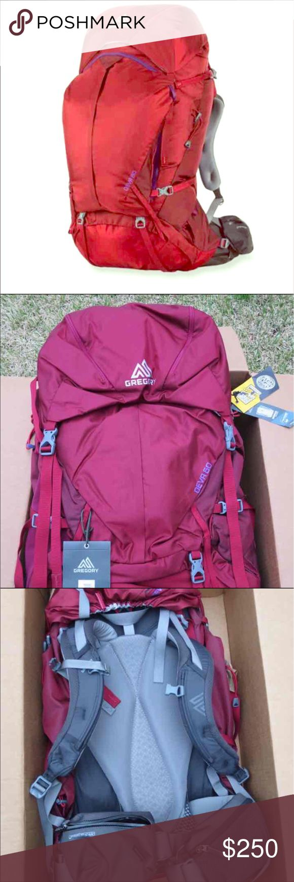 BNWT Gregory Deva 60 Backpack Brand New! Women's Gregory Deva 60 Hiking Backpack. Size Small. I purchased this for a trip I was planning to #Peru last Xmas but my plans changed. Retails for $299.  Open to reasonable offers :)
