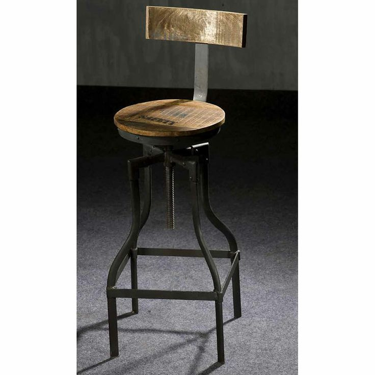 tabouret de bar style industriel mobilier style. Black Bedroom Furniture Sets. Home Design Ideas