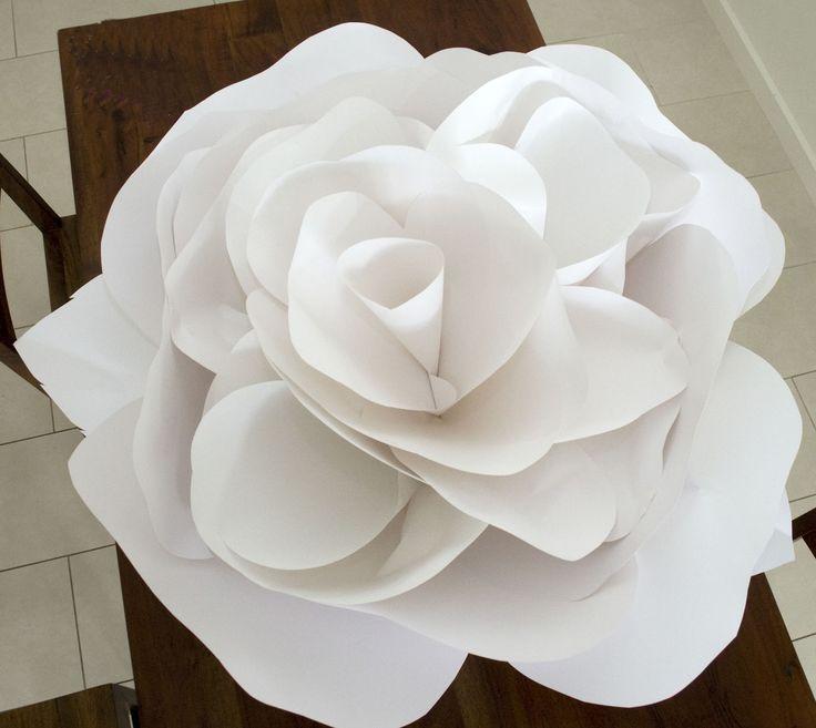 Graça Designs: Flores de papel gigantes