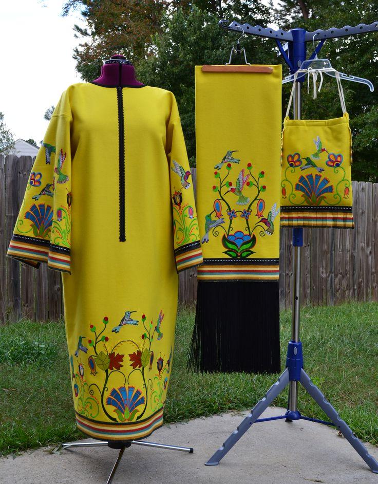 Woman's Traditional Powwow Regalia. Machine Embroidered
