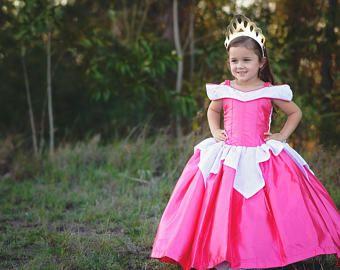 Dormir belleza vestido / disfraz de Disney Princesa Aurora / estilo de vestido para bebé, niña, niño, niño de la bola