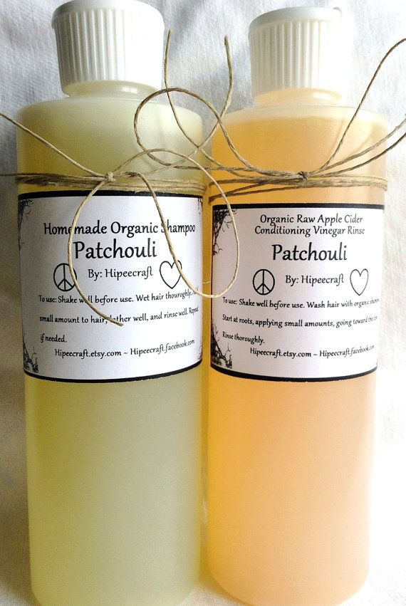 Patchouli Organic Shampoo and Conditioner Homemade by Hipeecraft