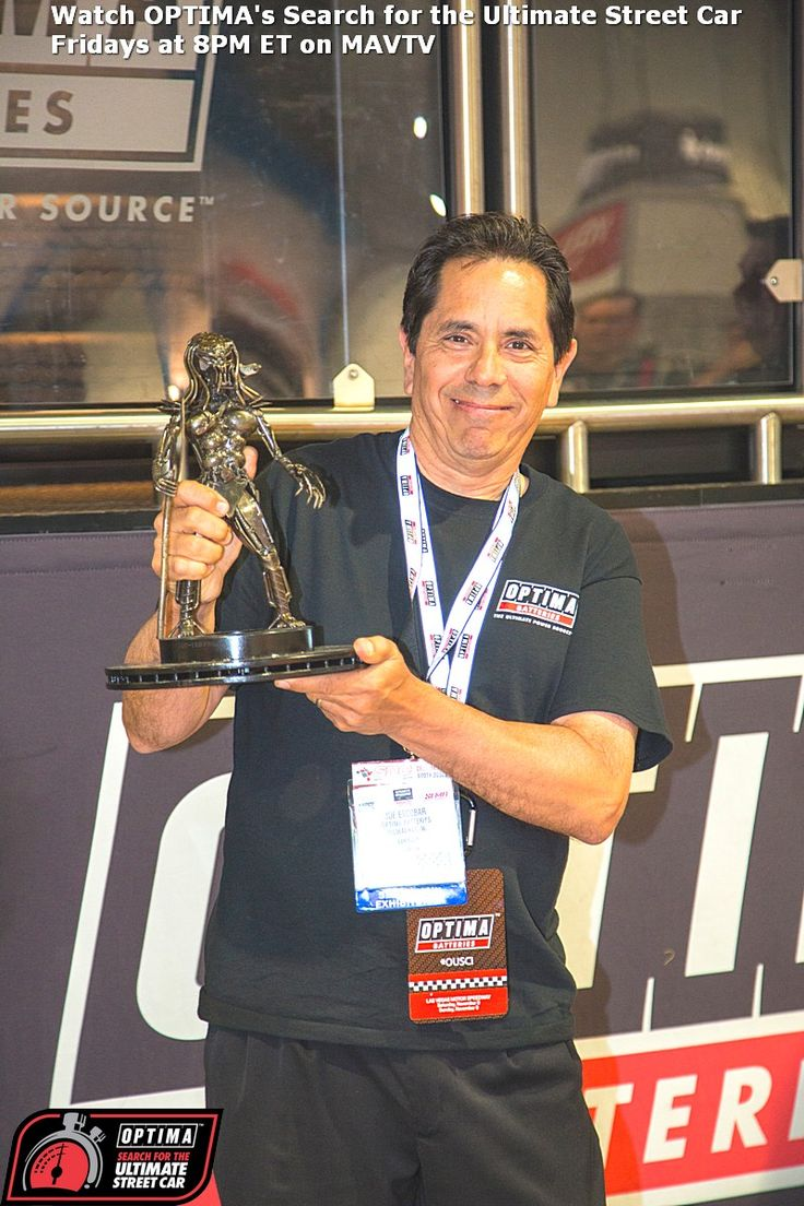 Joe Escobar takes home one of the cooler trophies you'll ...
