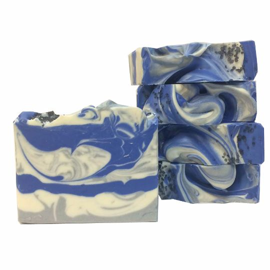 This handmade vegan soap is made with skin soothing aloe vera juice, rice milk, and kaolin clay. It is scented with complex blend of cucumber, aloe, bergamot and sandalwood. A perfect soap for any man