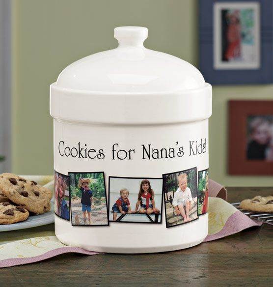 Custom Photo Cookie Jar What A Great Gift For Grandma Mother S Day