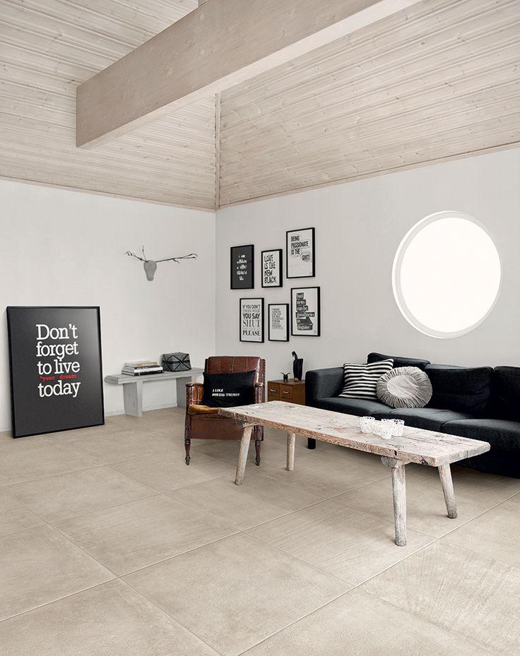 Betonlook tegel in Sabbia tint. Deze serie bestaat uit prachtige grijstinten, die onderling heel mooi gecombineerd kunnen worden (19) Tegelhuys